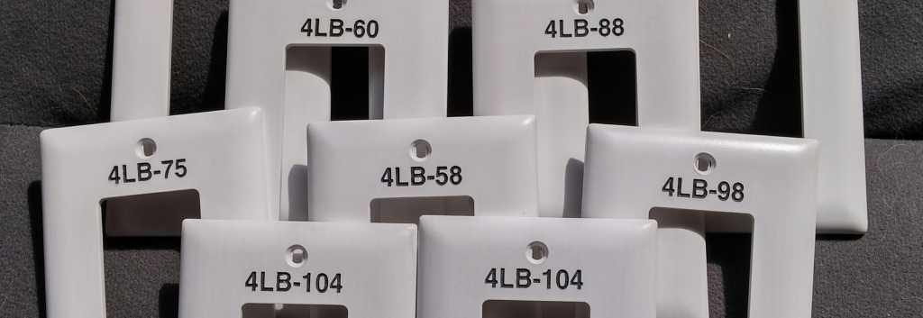 engraving receptacle plates